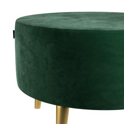 Podnóżek okrągły Velvet w kolekcji Velvet, tkanina: 704-13