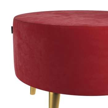 Podnóżek okrągły Velvet w kolekcji Velvet, tkanina: 704-15