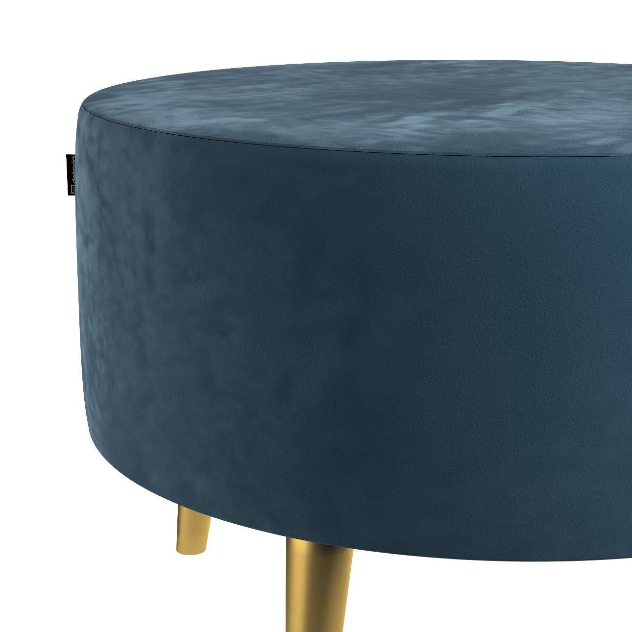 Podnóżek okrągły Velvet w kolekcji Velvet, tkanina: 704-16