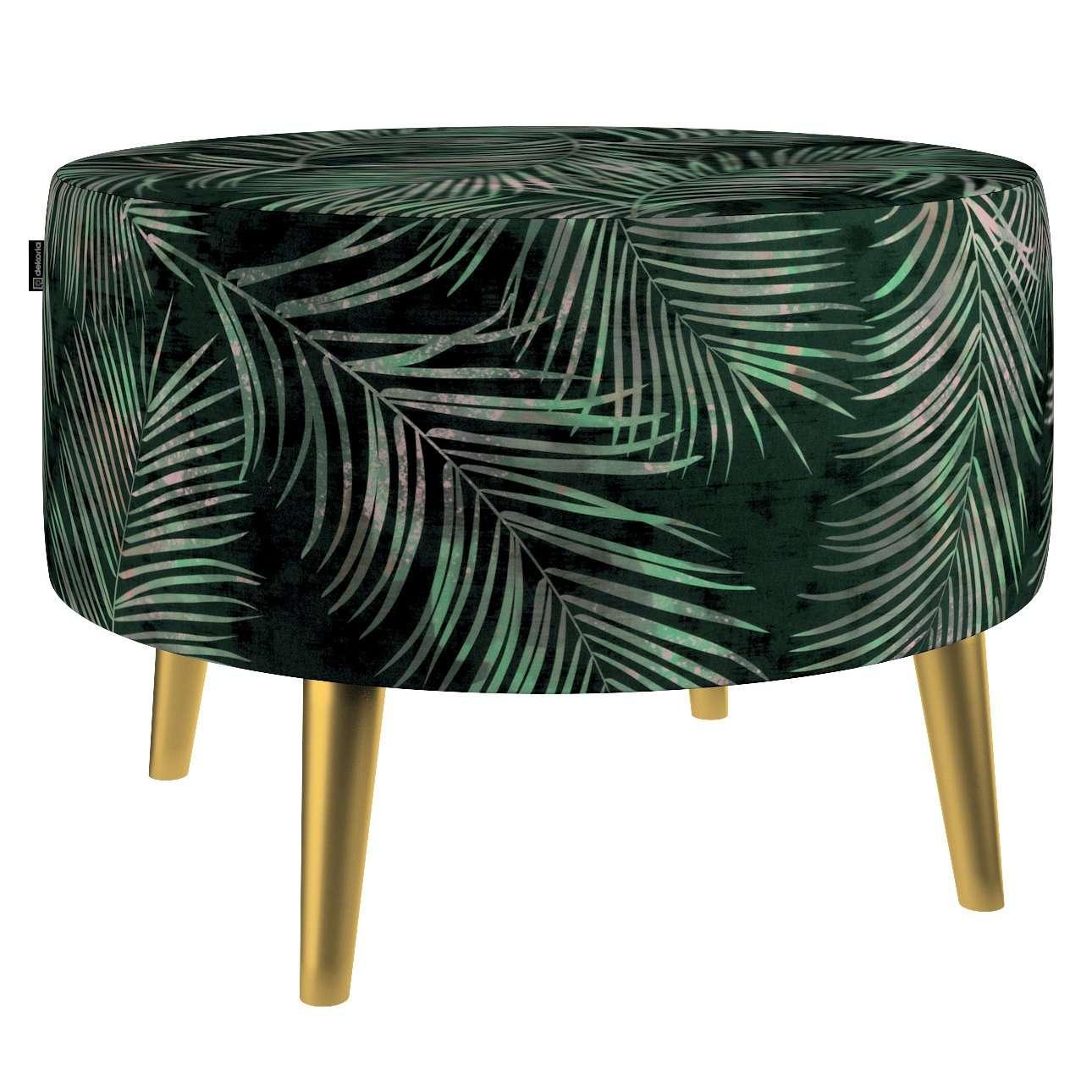 Podnóżek okrągły Velvet w kolekcji Velvet, tkanina: 704-21