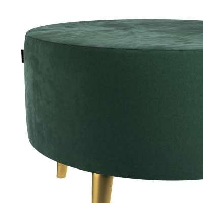Podnóżek okrągły Velvet w kolekcji Velvet, tkanina: 704-25