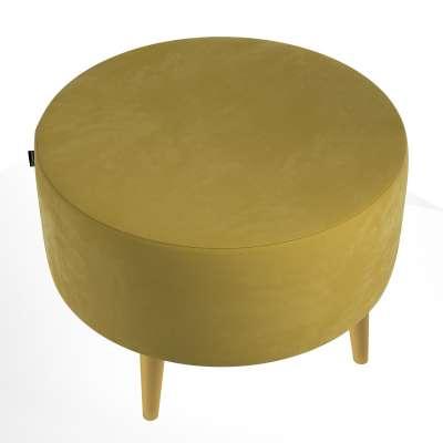 Podnóżek okrągły Velvet w kolekcji Velvet, tkanina: 704-27
