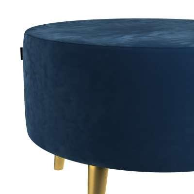 Podnóżek okrągły Velvet w kolekcji Velvet, tkanina: 704-29