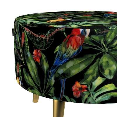Podnóżek okrągły Velvet w kolekcji Velvet, tkanina: 704-28