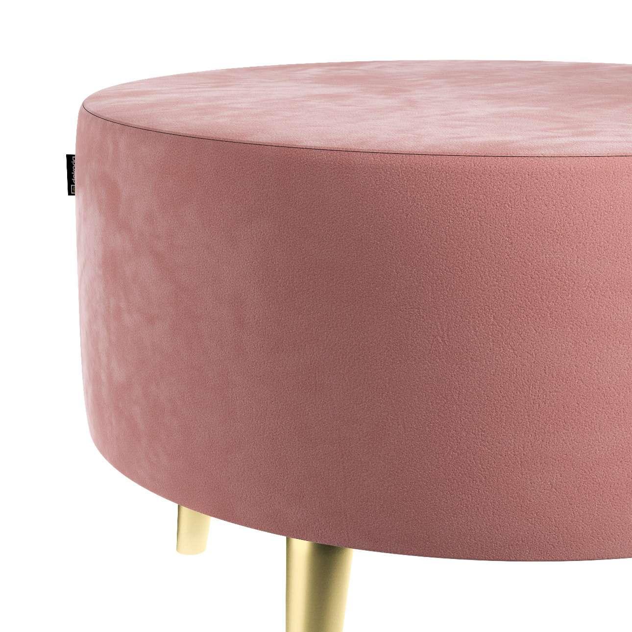 Podnóżek okrągły Velvet w kolekcji Velvet, tkanina: 704-30