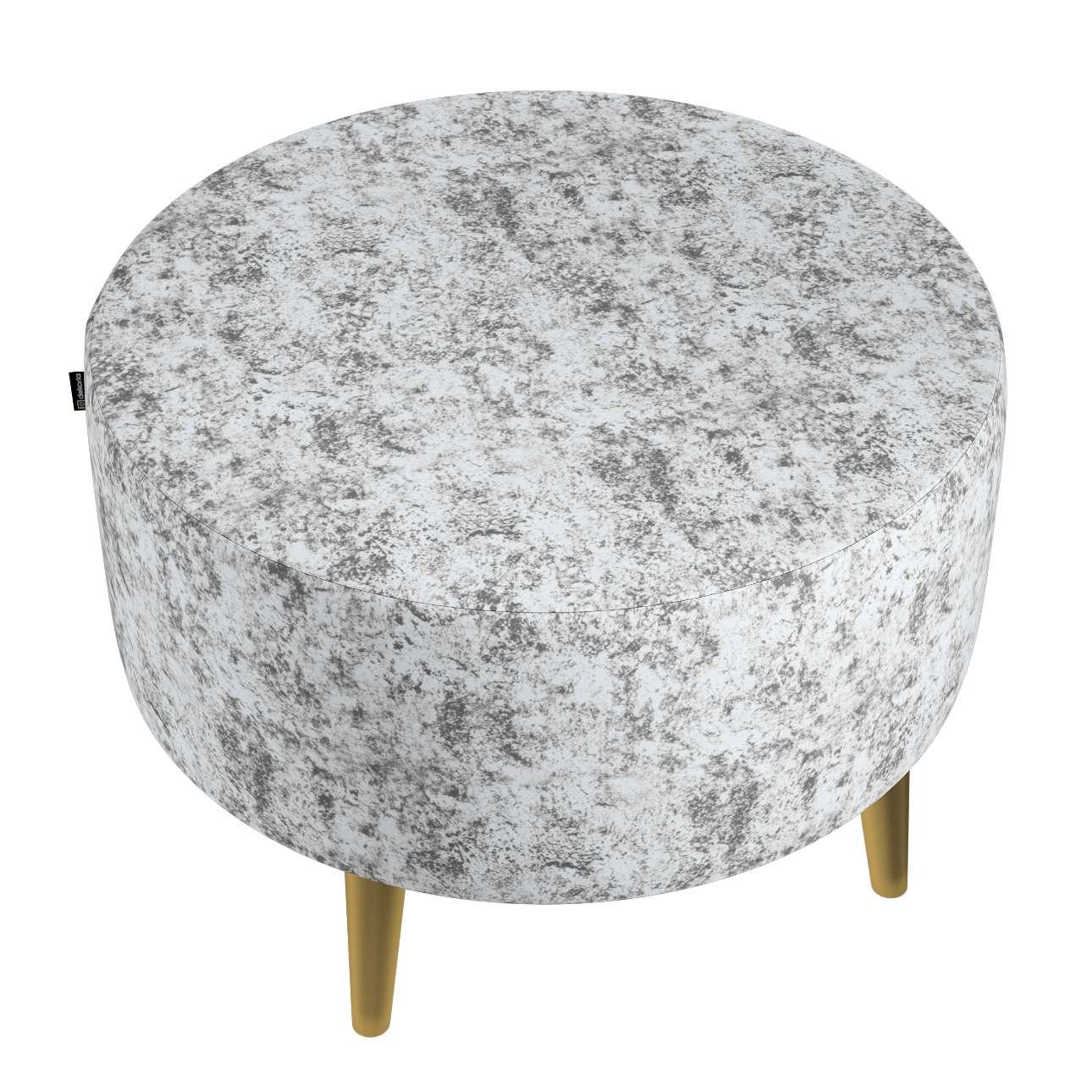 Podnóżek okrągły Velvet w kolekcji Velvet, tkanina: 704-49