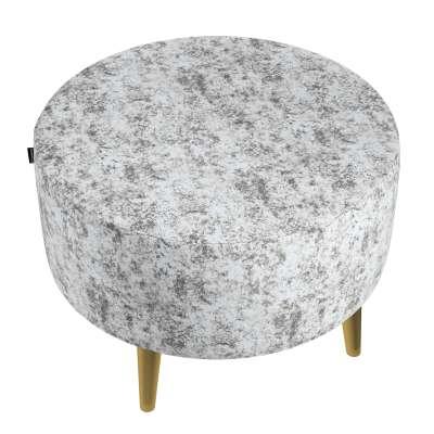 Velká podnožka Velvet průměr 60cm 704-49 šedo-bílý  Kolekce Velvet