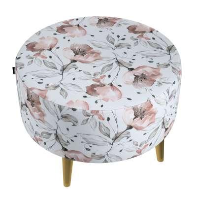 Podnóżek okrągły Velvet w kolekcji Velvet, tkanina: 704-50
