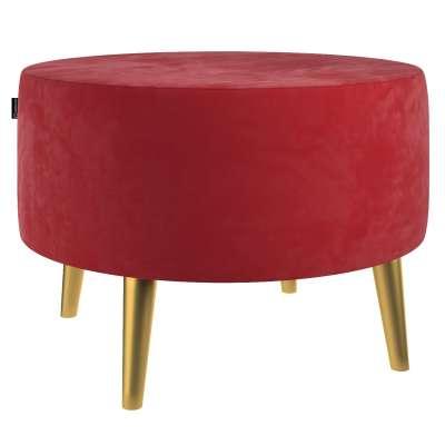 Velká podnožka Velvet průměr 60cm 704-15 sytá červená Kolekce Christmas