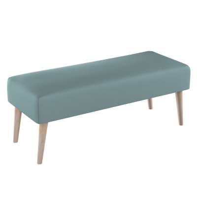 Dlouhá lavička natural 100x40cm s volbou látky 702-40 eukaliptusowy błękit Kolekce Cotton Panama