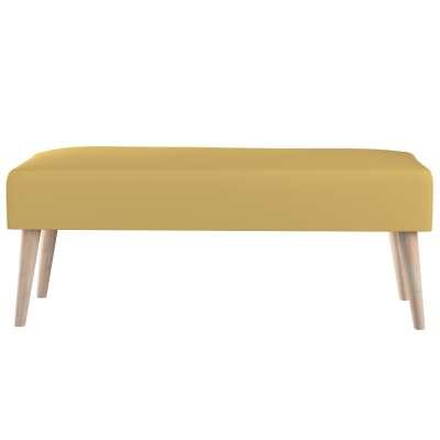 Dlouhá lavička natural 100x40cm s volbou látky 702-41 zgaszony żółty Kolekce Cotton Panama