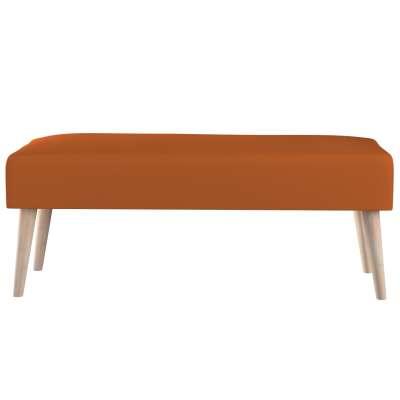 Dlouhá lavička natural 100x40cm s volbou látky 702-42 rudy Kolekce Cotton Panama