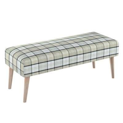 Dlouhá lavička natural 100x40cm s volbou látky 143-64 kostka šedo-bežová Kolekce Bristol