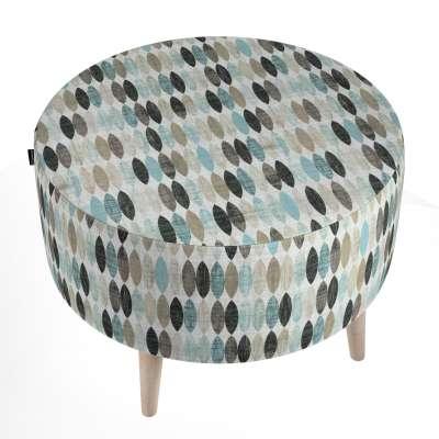 Podnóżek okrągły natural w kolekcji Modern, tkanina: 141-91