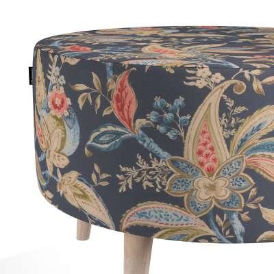 Podnóżek okrągły natural w kolekcji Gardenia, tkanina: 142-19