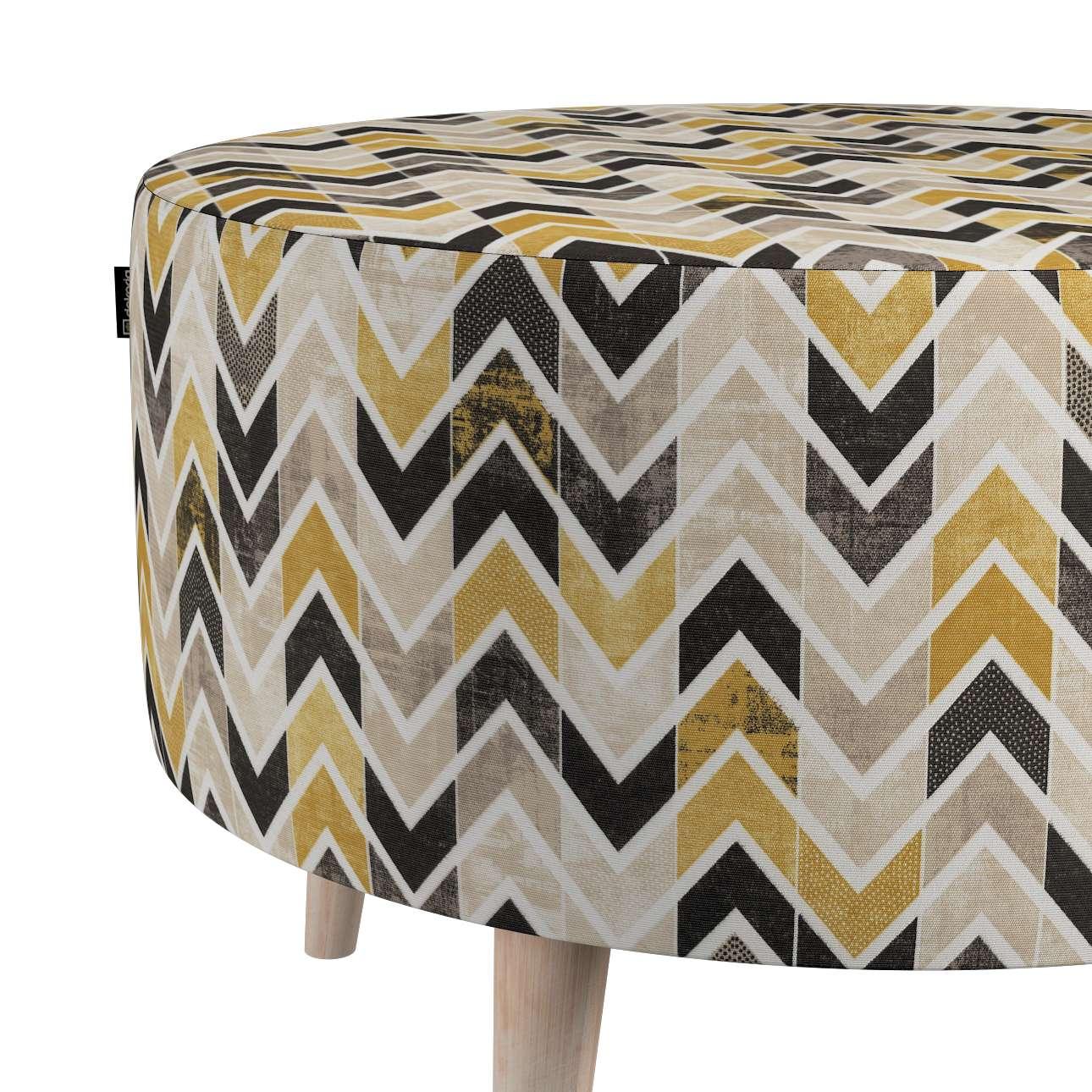 Podnóżek okrągły natural w kolekcji Modern, tkanina: 142-79