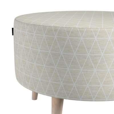 Podnóżek okrągły natural w kolekcji Sunny, tkanina: 143-49