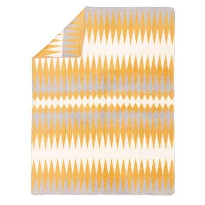 Deka Cotton Cloud 150x200cm žlto, krémovo šedá kombinácia