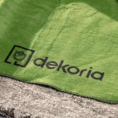 Cotton Cloud Blanket 150x200cm Grass Blankets and Throws - Dekoria.co.uk