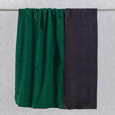 Deka Cotton Cloud 150x200 cm tmavo - zelená/grafitová Deky - Dekoria.sk