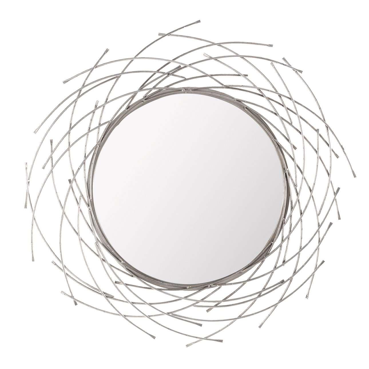 Spiegel Rays silver 103cm, 103×103×4,5cm   Flur & Diele > Spiegel   Dekoria