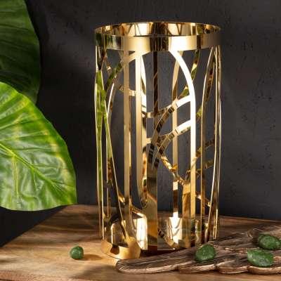 Žvakidė Cindy  gold 35cm Žvakidės - Dekoria.lt