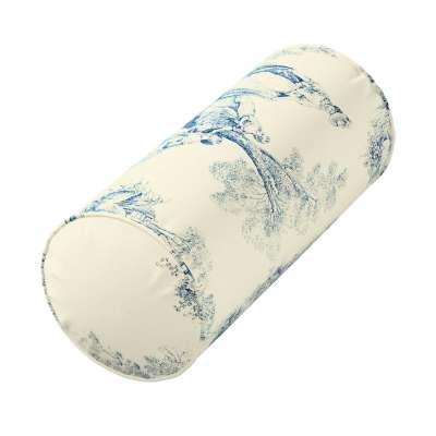 Ektorp nakkepudebetræk 132-66 Blå print, creme baggrund Kollektion Avinon