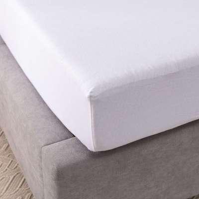Prześcieradło jersey z gumką białe 140 × 200 cm