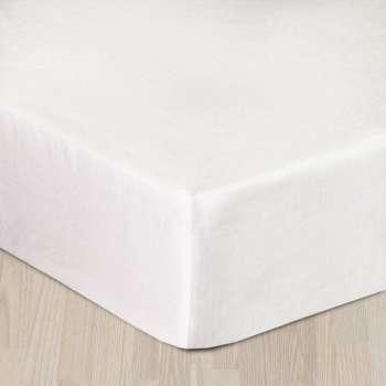 Prześcieradło satynowe z gumką białe 220 × 200 cm