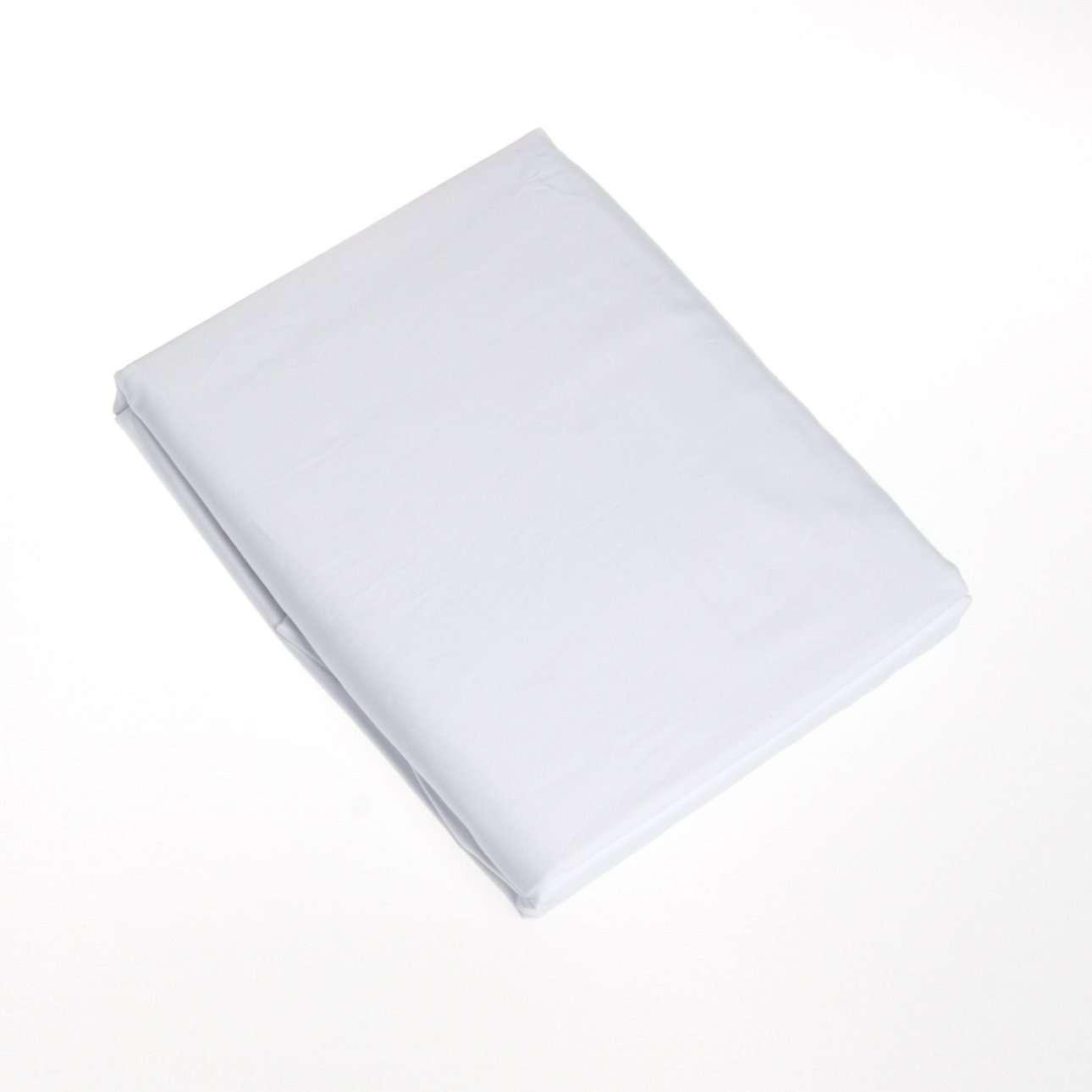 Prześcieradło satynowe z gumką białe 140 × 200 cm
