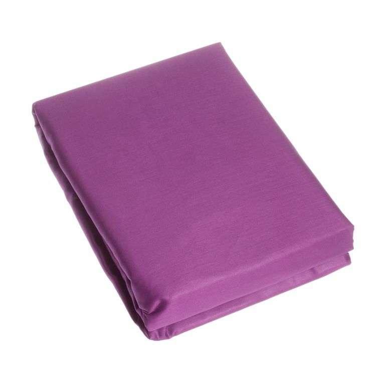 Prześcieradło satynowe z gumką fiolet 220 × 200 cm