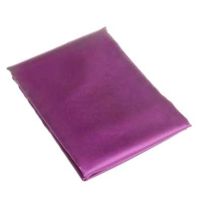 Prześcieradło satynowe proste fiolet 220 × 200 cm
