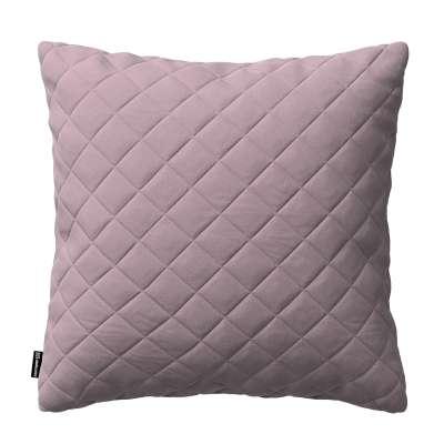 Dekoratyvinės pagalvėlės užvalkalas Kinga su rombiukais 43 x 43 cm 704-14 Prigesinta rožinė Kolekcija Velvetas/Aksomas