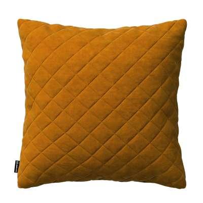 Dekoratyvinės pagalvėlės užvalkalas Kinga su rombiukais 43 x 43 cm 704-23 medaus sodri Kolekcija Velvetas/Aksomas