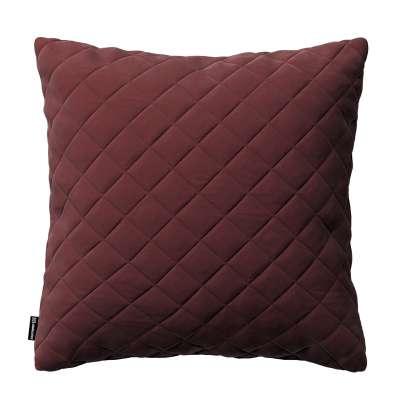 Dekoratyvinės pagalvėlės užvalkalas Kinga su rombiukais 43 x 43 cm 704-26 bordo Kolekcija Velvetas/Aksomas