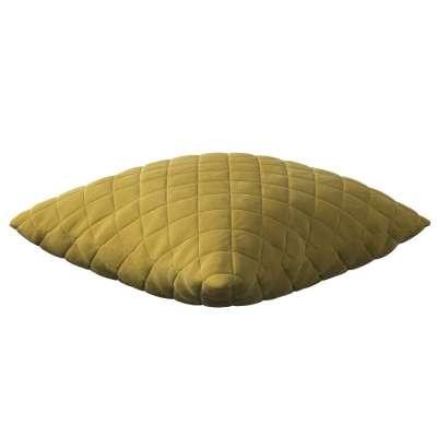Dekoratyvinės pagalvėlės užvalkalas Kinga su rombiukais 43 x 43 cm 704-27 gelsvai žalia Kolekcija Velvetas/Aksomas
