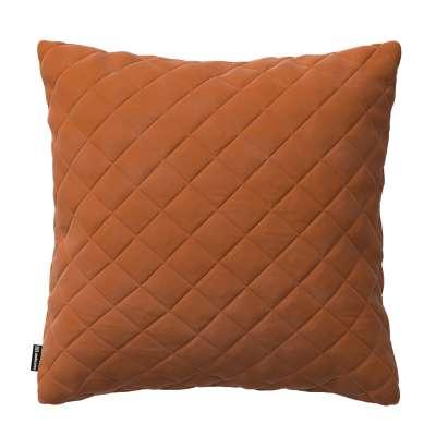 Dekoratyvinės pagalvėlės užvalkalas Kinga su rombiukais 43 x 43 cm 704-33 ruda-plytų spalva Kolekcija Velvetas/Aksomas