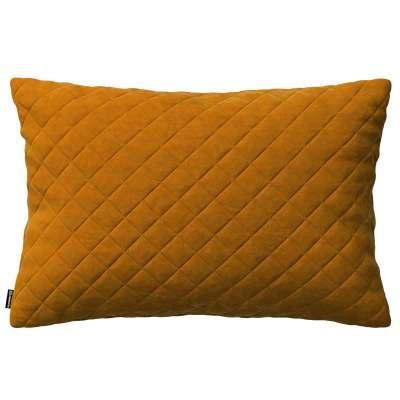 Kinga rectangular quilted velvet cushion cover 60 x 40 cm