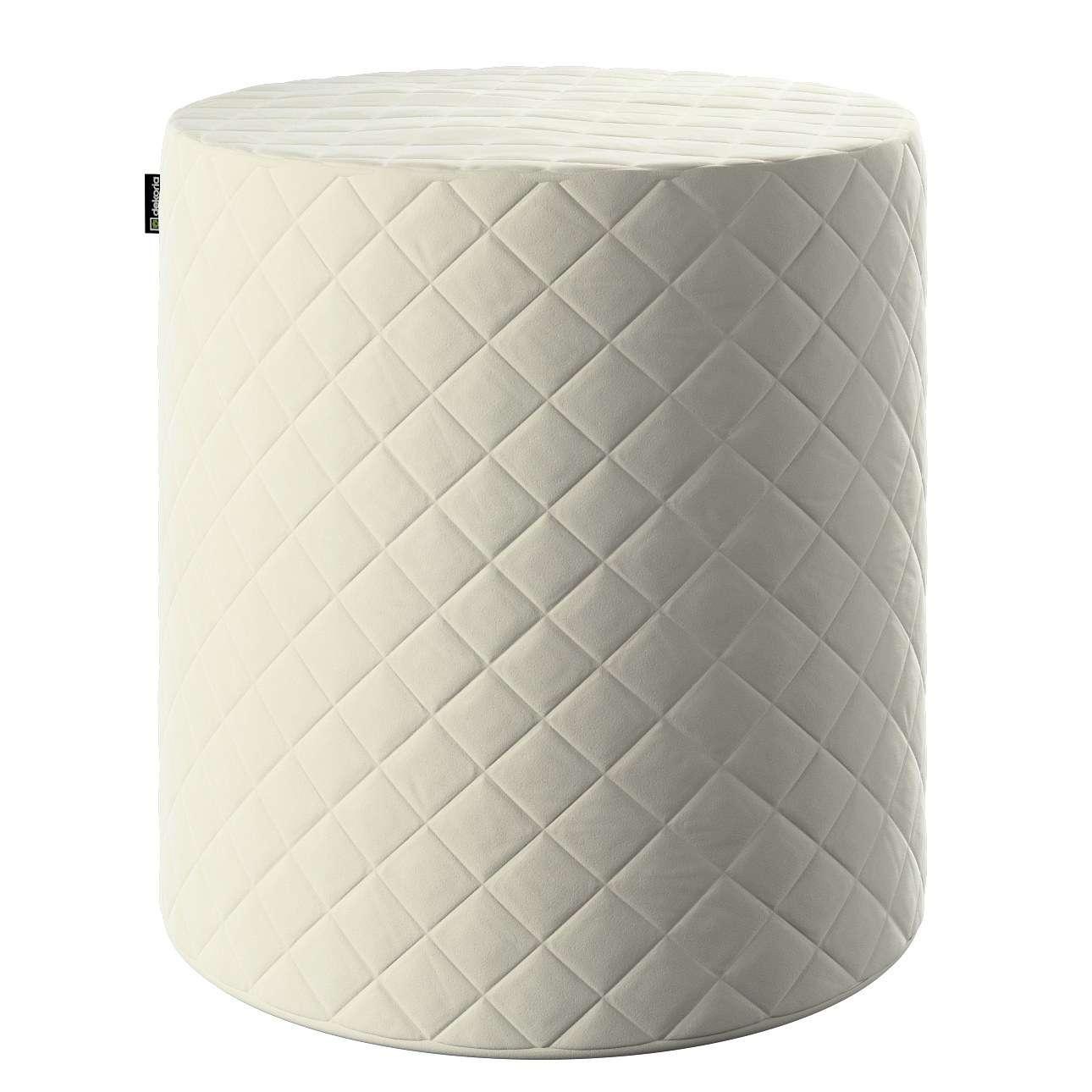 Puf Barrel pikowany w kolekcji Velvet, tkanina: 704-10