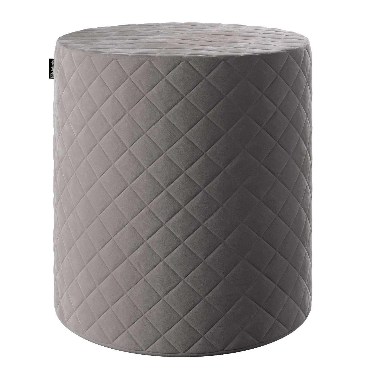 Puf Barrel pikowany w kolekcji Velvet, tkanina: 704-11