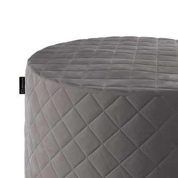 Siddepuf quiltet velour