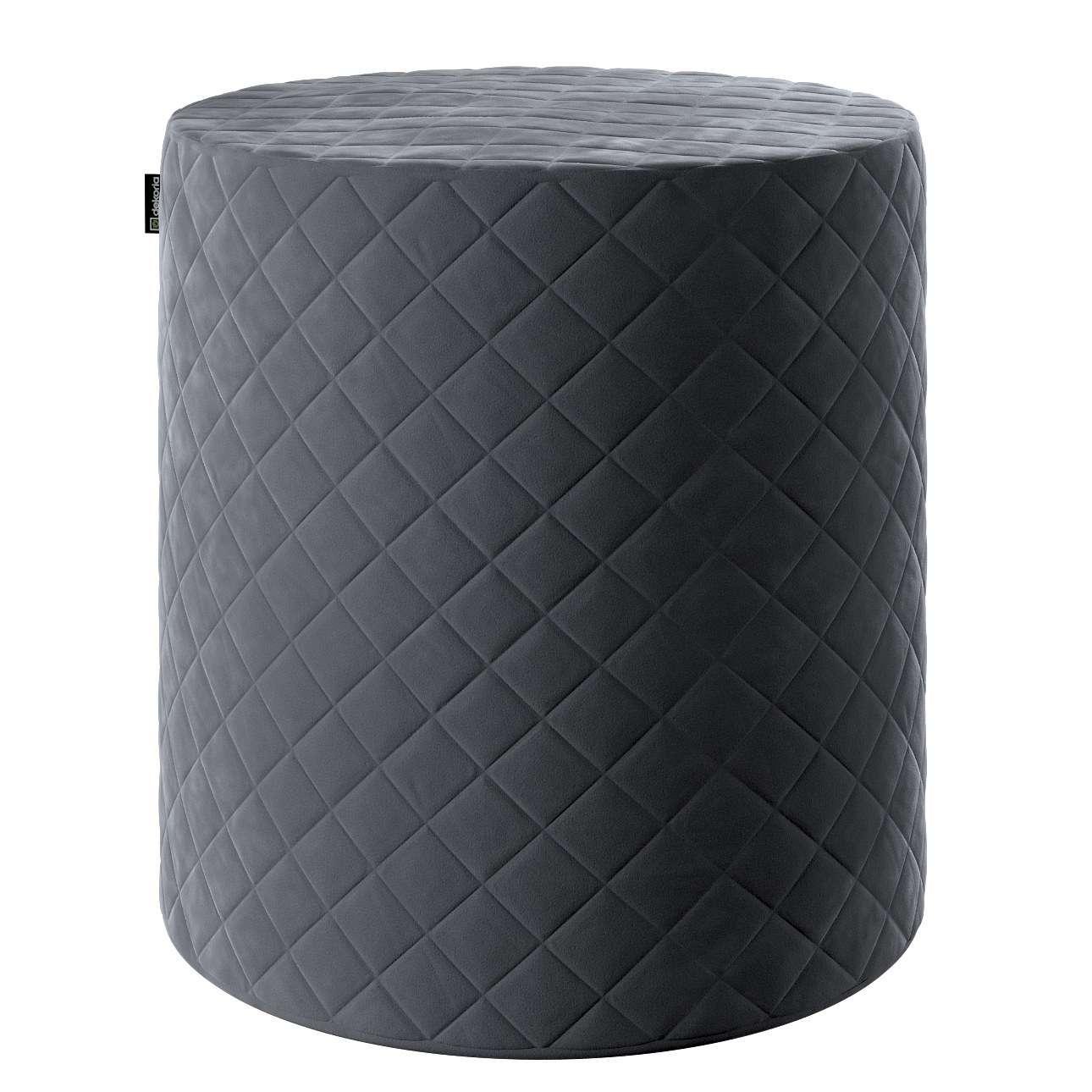 Pouf Barrel gesteppt von der Kollektion Velvet, Stoff: 704-12