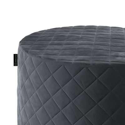 Pufas Barrel dygsniuotas 704-12 Tamsiai pilkas Kolekcija Velvetas/Aksomas