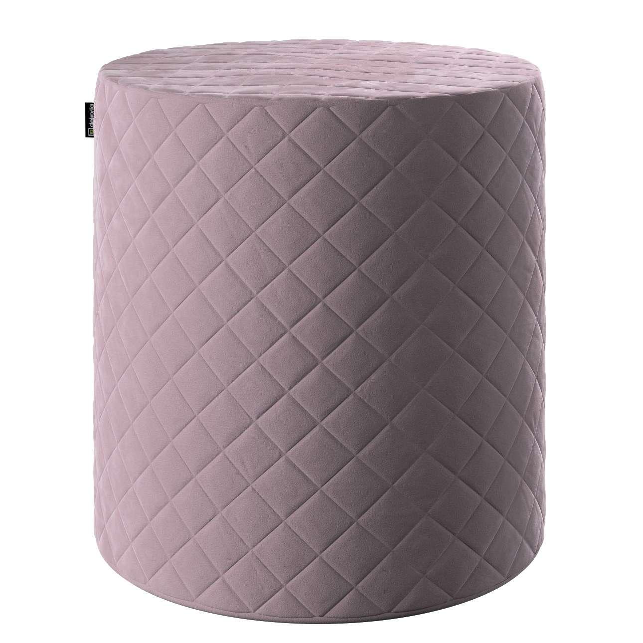 Pouf Barrel gesteppt, rosa, ø 40 x 40 cm, Velvet   Wohnzimmer > Hocker & Poufs > Poufs   Stoff   Dekoria