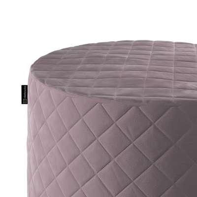 Puf Barrel pikowany w kolekcji Velvet, tkanina: 704-14