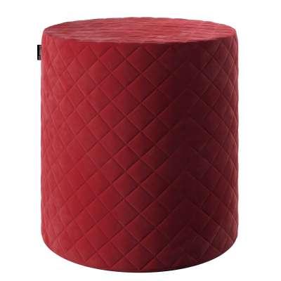 Puf Barrel pikowany 704-15 intensywna czerwień Kolekcja Velvet