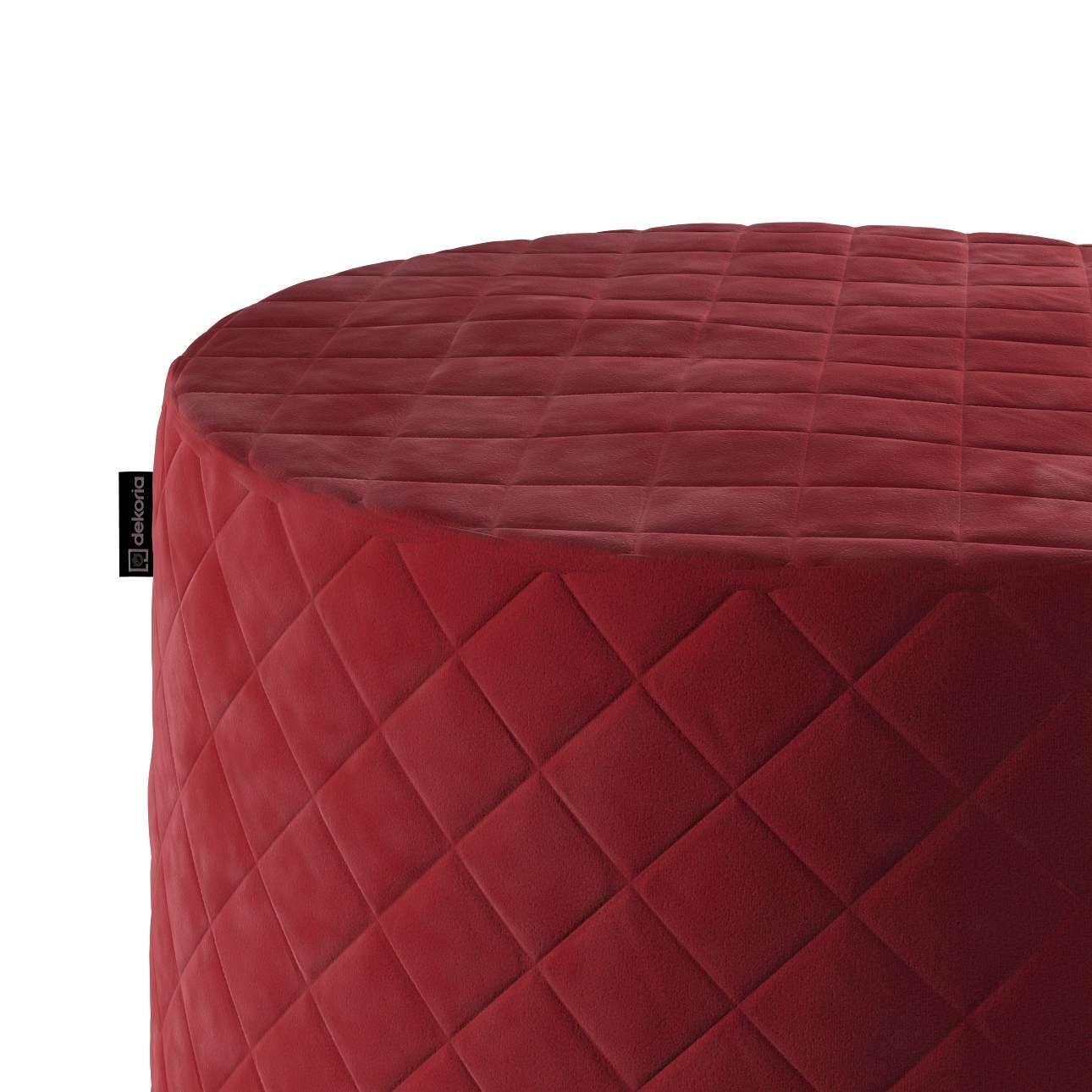 Puf Barrel pikowany w kolekcji Velvet, tkanina: 704-15