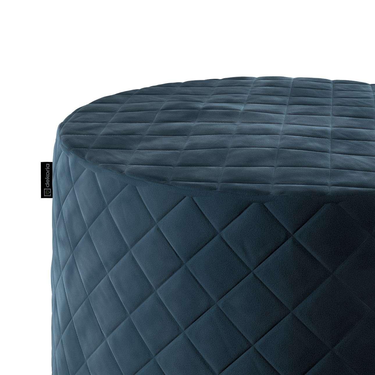 Puf Barrel pikowany w kolekcji Velvet, tkanina: 704-16