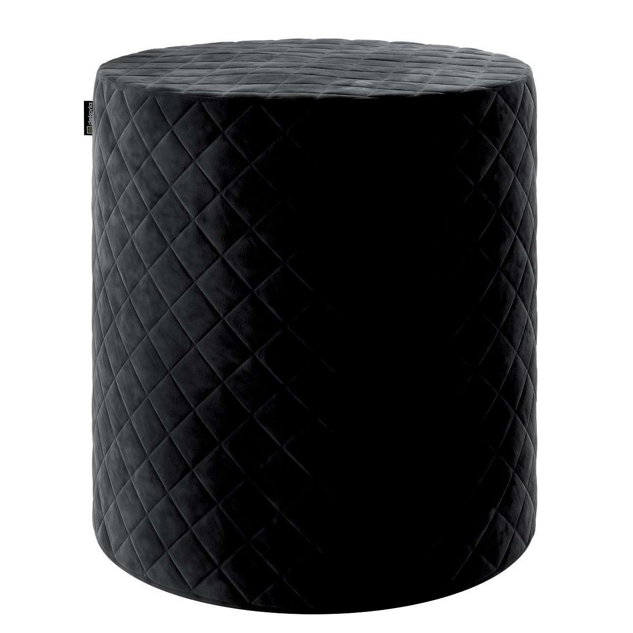 Pouf Barrel gesteppt von der Kollektion Velvet, Stoff: 704-17