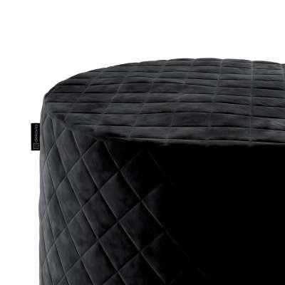 Puf Barrel pikowany 704-17 głęboka czerń Kolekcja Velvet